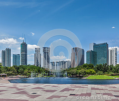 Skyline of Central Business District of Kuala Lumpur
