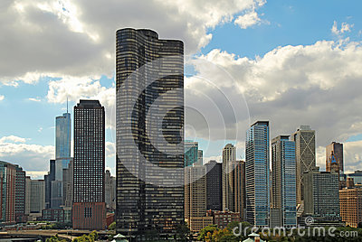 Skyline of Chicago, Illinois near navy Pier
