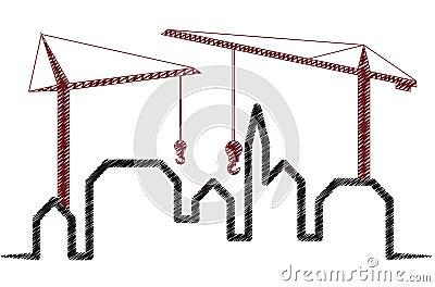 Skyline crane