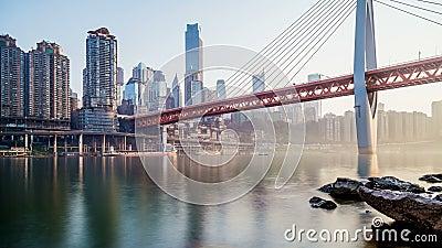Skyline da cidade de Chongqing Lapso de tempo video estoque