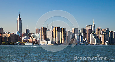 Skyline da parte alta da cidade de New York City