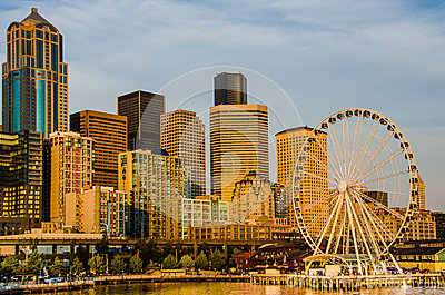 A skyline de Seattle Imagem de Stock Editorial