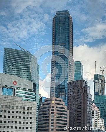 Skyline de Singapore CBD Foto Editorial