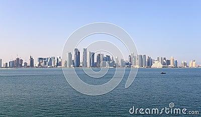 Skyline of Doha downtown
