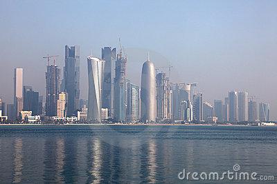 Skyline of Doha, Qatar