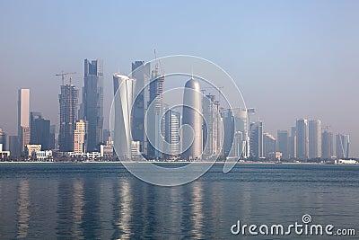 Skyline of Doha, Qatar