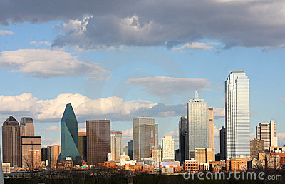 Skyline in downtown of Dallas