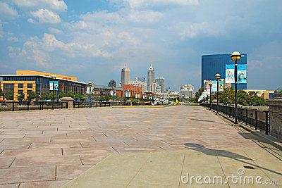 The skyline of downtown Indianapolis, Indiana Editorial Stock Image