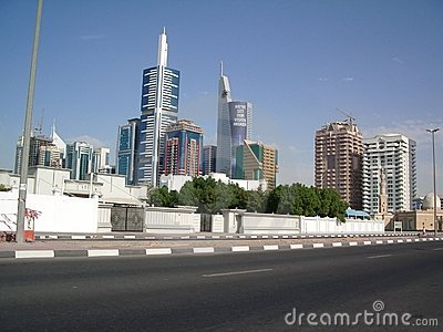 Skyline of Dubai UAE Editorial Stock Photo