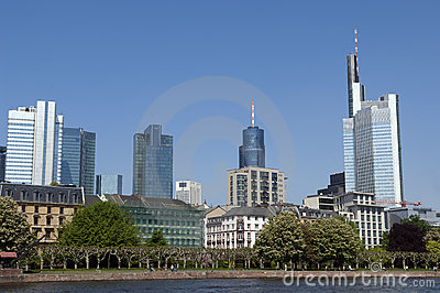 Skyline of Frankfurt Germany