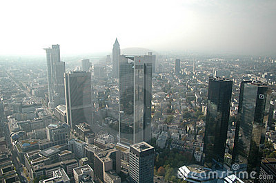 Skyline Frankfurt am Main Editorial Photo