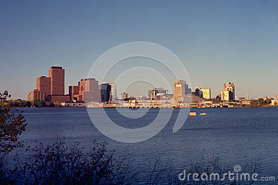 Skyline of Gatineau Quebec at Sunset
