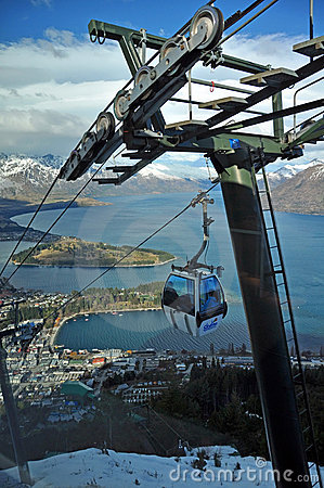 Skyline Gondola, Queenstown, New Zealand Editorial Stock Photo