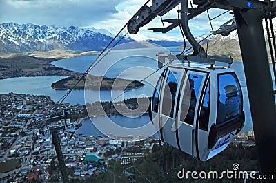 Skyline Gondola, Queenstown, New Zealand Editorial Photo