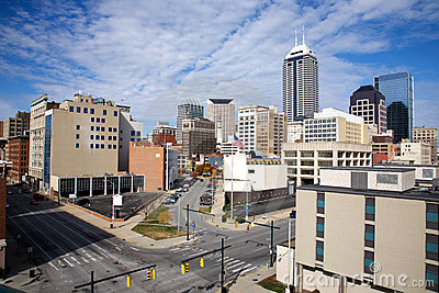 Skyline of Indianapolis Indiana