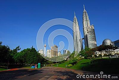 Skyline of Kuala Lumpur - Petronas Twin Towers Editorial Stock Image