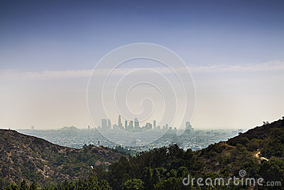 Skyline of Los Angeles City