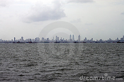 Skyline of megalopolis Mumbai