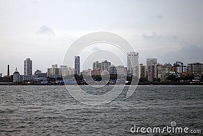Skyline of megalopolis Mumbai
