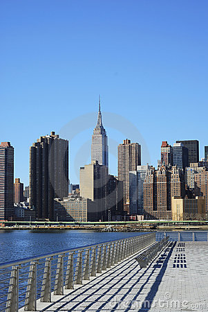 Skyline for Mid-town Manhattan in NYC