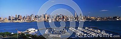 Skyline of midtown Manhattan, New York Editorial Photo