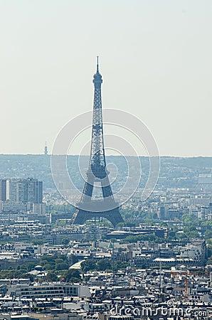 Skyline of Paris Editorial Image