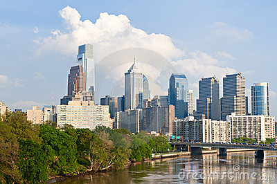 Skyline of Philadelphia downtown