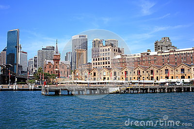 Skyline of The Rocks district in Sydney Editorial Image