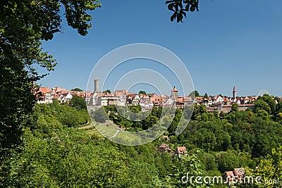 Skyline of Rothenburg ob der Tauber