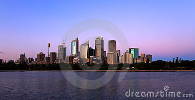 Skyline Sydney Editorial Stock Photo