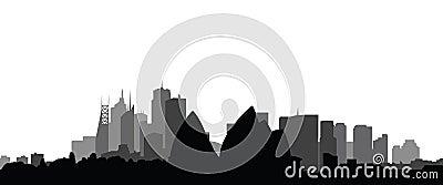 Skyline sydney city vector