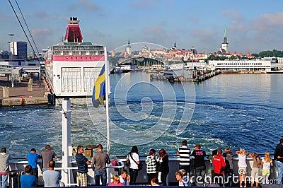 Skyline of Tallinn from the Sea Editorial Image