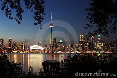 Skyline of Toronto Editorial Image