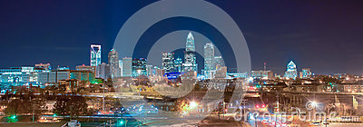 Skyline of uptown Charlotte panorama