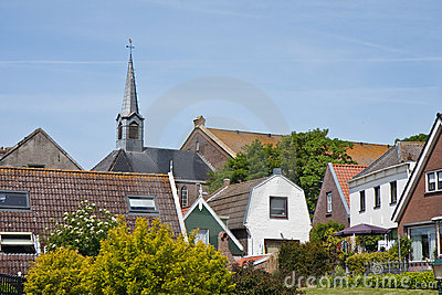 Skyline of Urk, an old Dutch fishing village