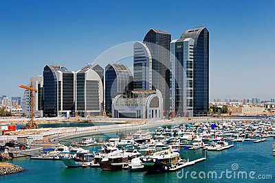 A Skyline View Of Abu Dhabi, UAE's Capital City Stock Image