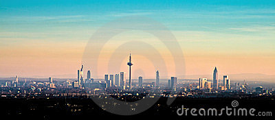 Skyline view of Frankfurt