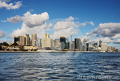 A Skyline View of Sydney with Skyscrapers Editorial Image