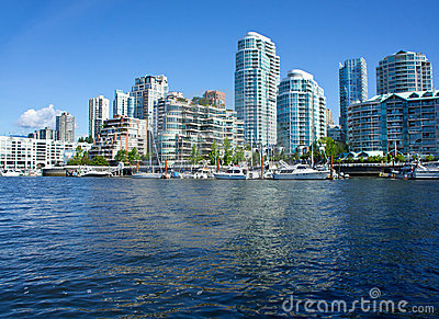 Skyline view of Vancouver, Canada