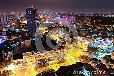 Skyline von Ho Chi Minh Stadt Redaktionelles Stockbild