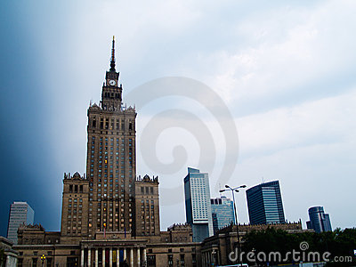 Skyline of Warsaw, Poland