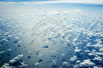 Skyscape over Indian Ocean