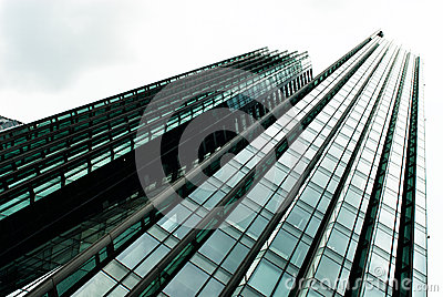 Skyscraper. Modern glass building in abstract