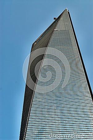 Skyscraper on blue sky