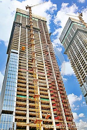 Free Skyscraper Building Under Construction Royalty Free Stock Photos - 56681338