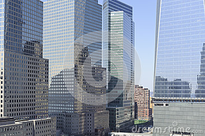 Skyscraper buildings in downtown New York City Editorial Stock Image