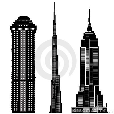 Skyscraper buildings vector 2