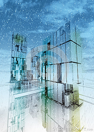Free Skyscraper Business City Concept Winter Royalty Free Stock Image - 27731676
