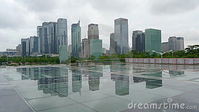 Skyscraper of City shenzhen Editorial Stock Image