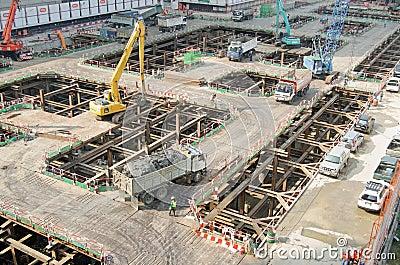 Skyscraper construction, Bangkok Editorial Image